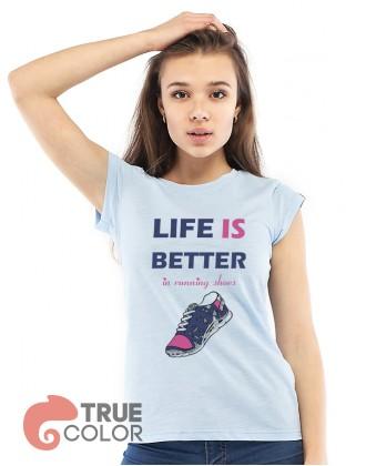 Футболка LIFE is BETTER